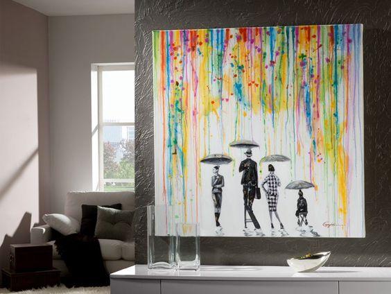 mobila si tablou modern